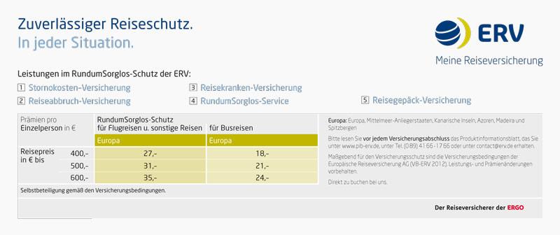 ERV-Reiseversicherung
