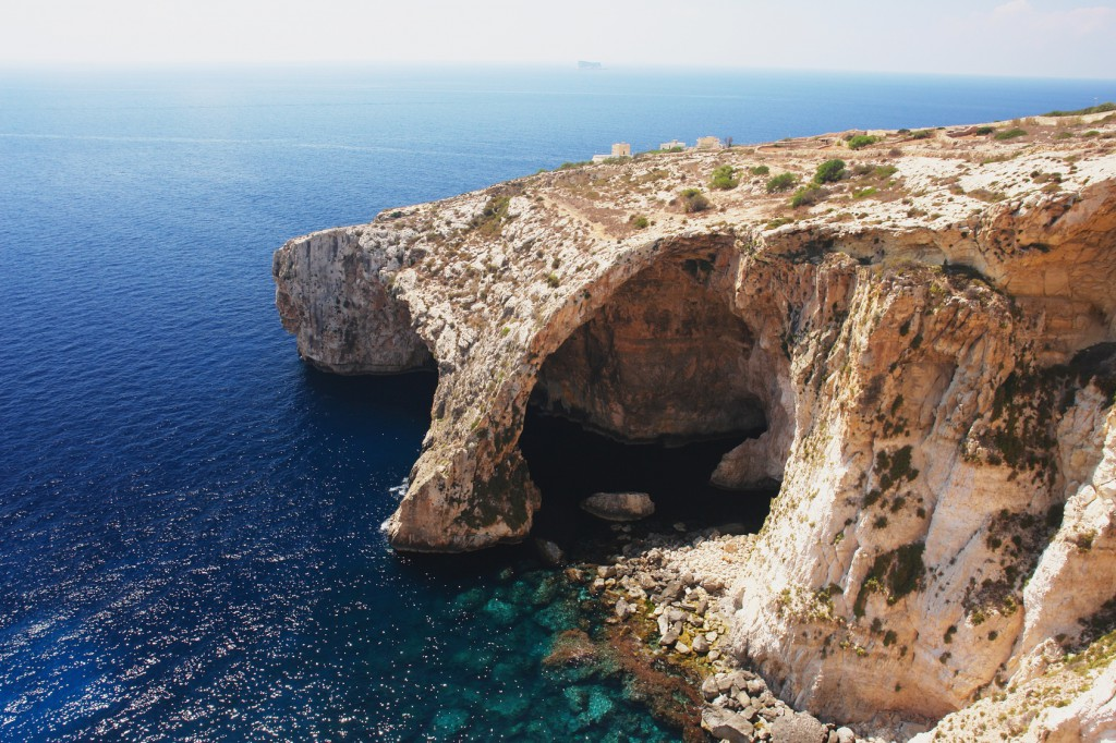 View of the Blue Grotto, Malta